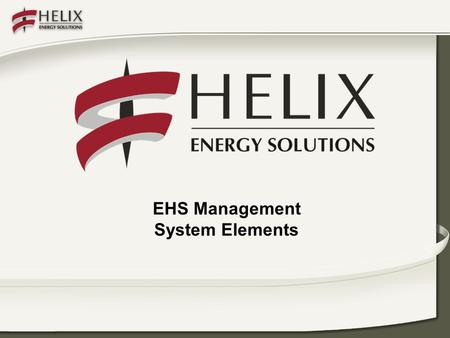 EHS Management System Elements