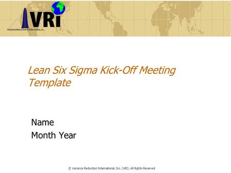 Lean Six Sigma Kick-Off Meeting Template