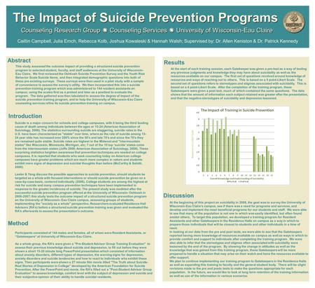 Abstract Introduction Introduction Counseling Research Group  Counseling Services  University of Wisconsin-Eau Claire This study assessed the outcome.