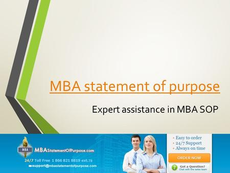 MBA statement of purpose Expert assistance in MBA SOP.