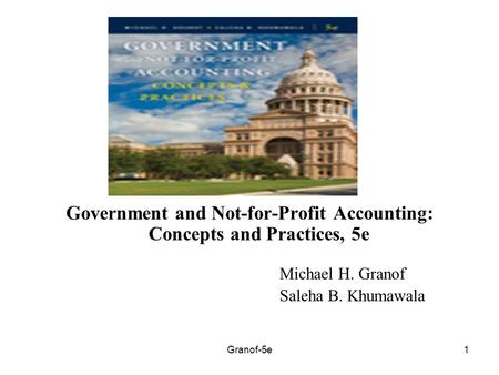 Chapter 3 The Government and Not-For-Profit Environment