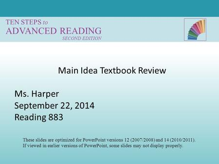 Main Idea Textbook Review