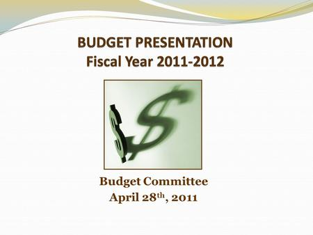 Budget Committee April 28 th, 2011. What is Local Budget Law? Establishes Standard Procedures Outlines Programs & Fiscal Policies Requires Estimates of.