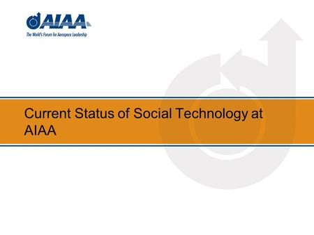 Current Status of Social Technology at AIAA. Background 2.