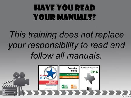 Have you read your manuals?