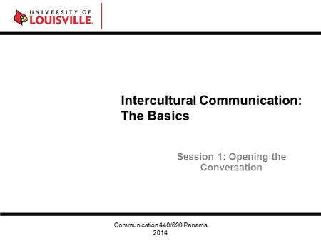 Intercultural Communication: The Basics