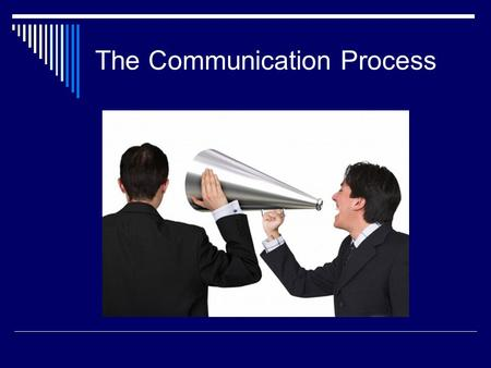 The Communication Process. Communication Means sending a message to a receiver 70% of our daily activities, therefore one of the most serious flaws of.