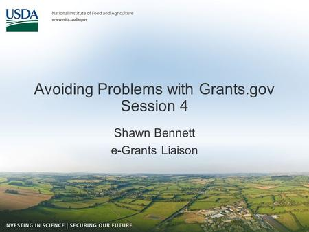 Avoiding Problems with Grants.gov Session 4