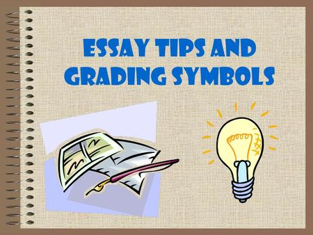 english essay grading symbols Need essay writing service assistance now we're really glad if our team can help you.