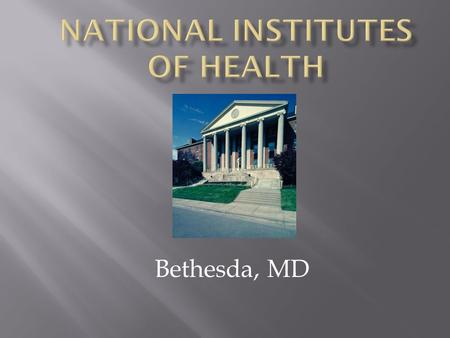 Bethesda, MD. NCI National Cancer Institute NCCAM National Center for Complementary and Alternative Medicine NCMHD National Center for Minority Health.