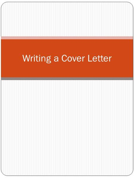 Writing a Cover Letter. Every time you send a resume to an employer you should send a cover letter, even if a cover letter is not mentioned in the ad,