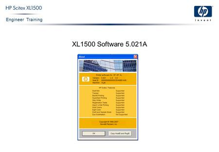Engineer Training XL1500 Software 5.021A. Engineer Training Confidential 2 Main Window Print options Archive Print queue Tool bar Preview & information.