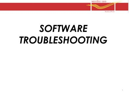 "1 SOFTWARE TROUBLESHOOTING. 2 SOFTWARE TROUBLE SHOOTING. POINT OF SALE S. no. PROBLEMSREMEDY 1When the Point of sale is started, it shows error ""ERROR."