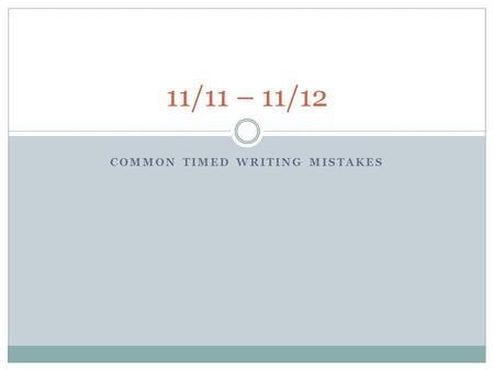basics writing a timed essay