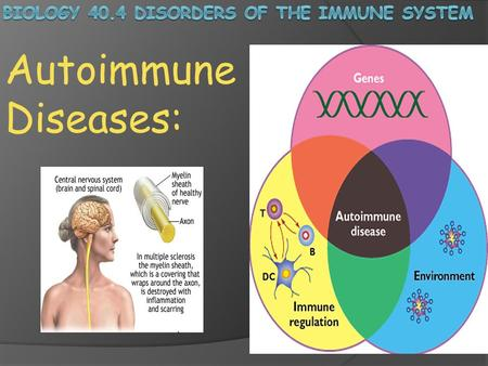 Autoimmune Diseases:. The ability of your immune system to distinguish cells and antigens of your body from foreign cells and antigens is crucial to the.