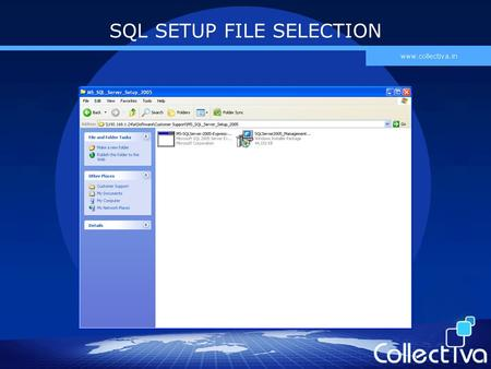 SQL SETUP FILE SELECTION