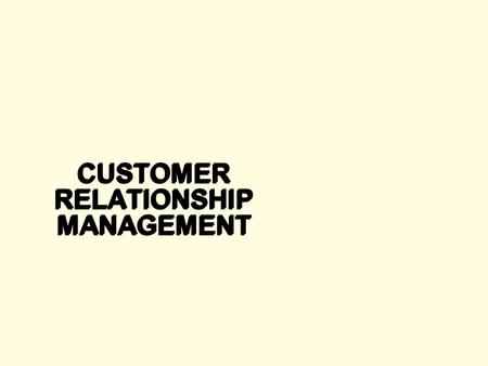 Customer relationship management and big bazaar