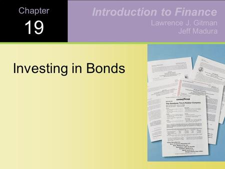 Learning Goals List the different types of bonds.