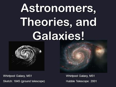 Astronomers, Theories, and Galaxies!