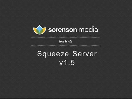 Squeeze Server v1.5. Top 250 Global Private Company/ Top 100 Private Mobile Company - AlwaysOn 2011 Market Reception / Perception.