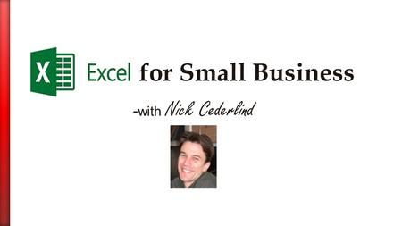 - with Nick Cederlind. San Francisco Certified Microsoft Office Trainer  Teaching for 7 years Founder: Underdog Training  Training numerous Bay Area.