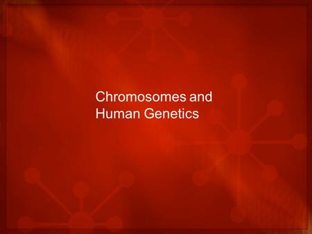 Chromosomes and Human Genetics. The Chromosomal Basis of Inheritance A time to review A gene – a unit of information about a heritable trait – found at.