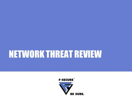 NETWORK THREAT REVIEW. Page 2 Agenda In this section Network threats Worms Hackers Security holes Social engineering.