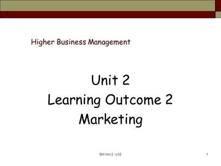 Unit 203 outcome 8 business admin
