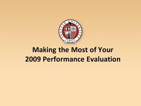 Making the Most of Your 2009 Performance Evaluation