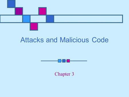 Attacks and Malicious Code Chapter 3. Learning Objectives Explain denial-of-service (DoS) attacks Explain and discuss ping-of-death attacks Identify major.