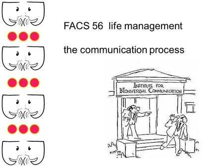 FACS 56 life management the communication process.