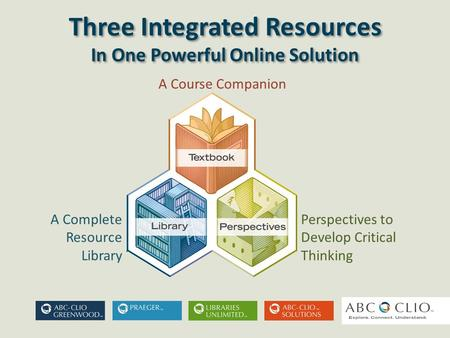 Three Integrated Resources In One Powerful Online Solution Three Integrated Resources In One Powerful Online Solution A Course Companion A Complete Resource.