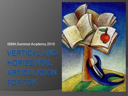 IBMA Summer Academy 2010. All handouts and other materials available at: