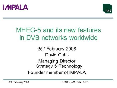 MHEG-5 and its new features in DVB networks worldwide