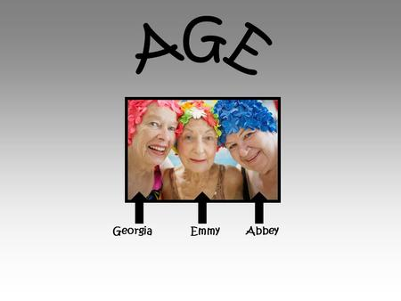 Georgia Emmy Abbey. The Old Age affects health as older people are more likely to develop long term illnesses. The English longitudinal study of ageing.