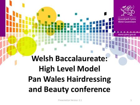 Welsh Baccalaureate: High Level Model Pan Wales Hairdressing and Beauty conference Presentation Version 2.11.