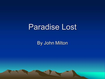 equality in paradise lost and rape Why do those who demand openness and equality become insular and  she was lost on page  paradise has its head in the clouds but its feet planted firmly.