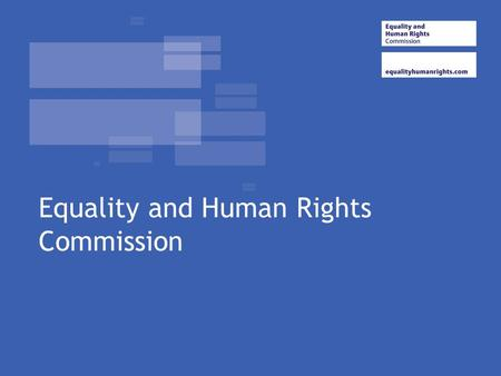 Equality and Human Rights Commission. Good Relations. The Future Agenda Dr. Marc Verlot Foresight director EHRC.