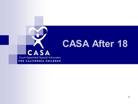 CASA After 18 1. 2 Introductory Activity 3 What We Know About Transition Age Youth…