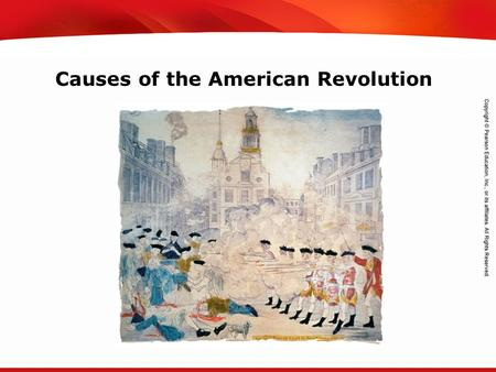 TEKS 8C: Calculate percent composition and empirical and molecular formulas. Causes of the American Revolution.