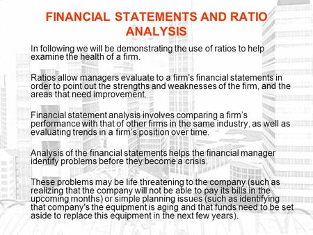examining financial statements