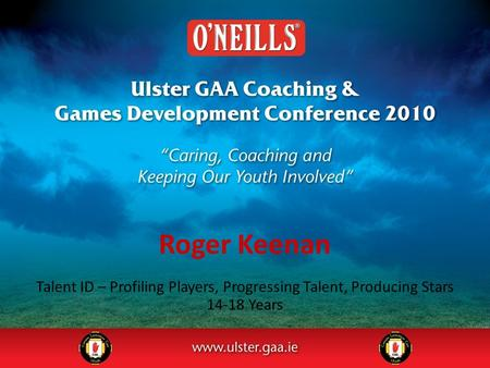 Roger Keenan Talent ID – Profiling Players, Progressing Talent, Producing Stars 14-18 Years.