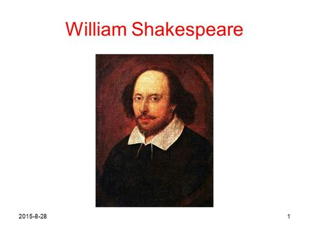 William Shakespeare 2017/4/20.