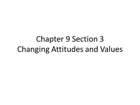 changing attitudes essay The 1920's were a period of tension between new and changing attitudes on the one the changing attitudes of the com/essay/changing-attitudes.