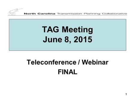 111 TAG Meeting June 8, 2015 Teleconference / Webinar FINAL.