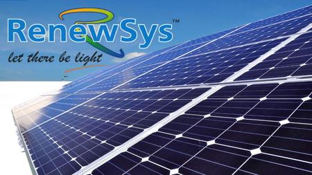 An Enpee Group Company RenewSys factory with 140 KW solar installation - captive consumption.