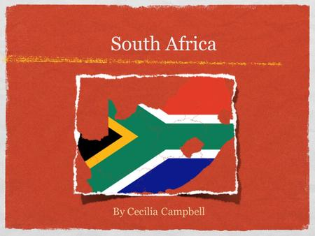 South Africa By Cecilia Campbell. Government Type of government: Republic - citizens entitled to vote hold power. This is exercised by the representatives.