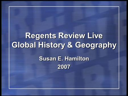 Global regents thematic essays geography