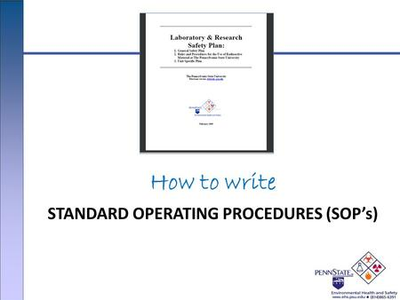 How to write STANDARD OPERATING PROCEDURES (SOP's)
