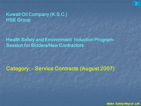 Category: - Service Contracts (August 2007)